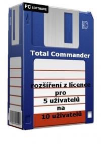 Total Commander - rozšíření z licence pro 5 uživatelů na 10 uživatelů