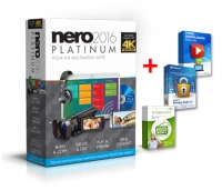 Nero 2016 Platinum + Link64 Video Downloader Ultimate + 	Steganos Privacy Suite 17 + stashimi Premium