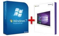 Windows 7 Professional + ZDARMA přechod na Windows 10 Pro /32bit + 64bit/ + Dárek Asoftis Start Menu
