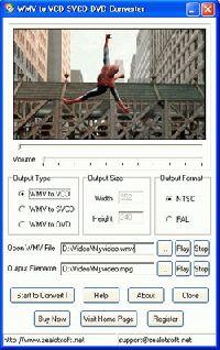 WMV to VCD SVCD DVD Converter