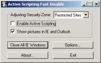 Active Scripting Fast Disable