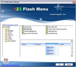123 Flash Menu